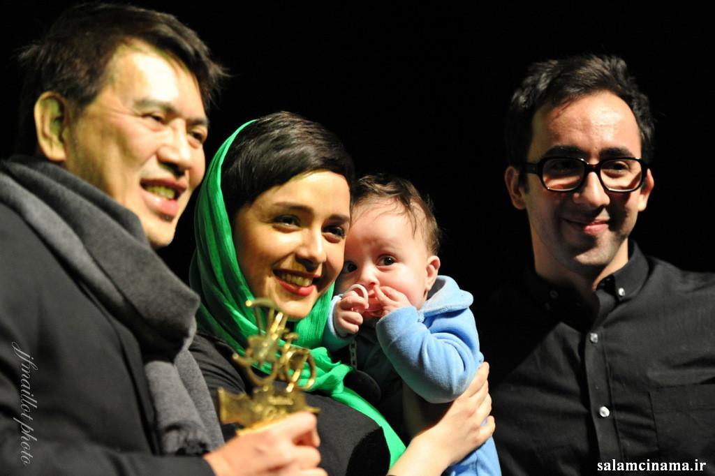 ترانه علیدوستی و همسر و دخترش taraneh alidoosti and her husband