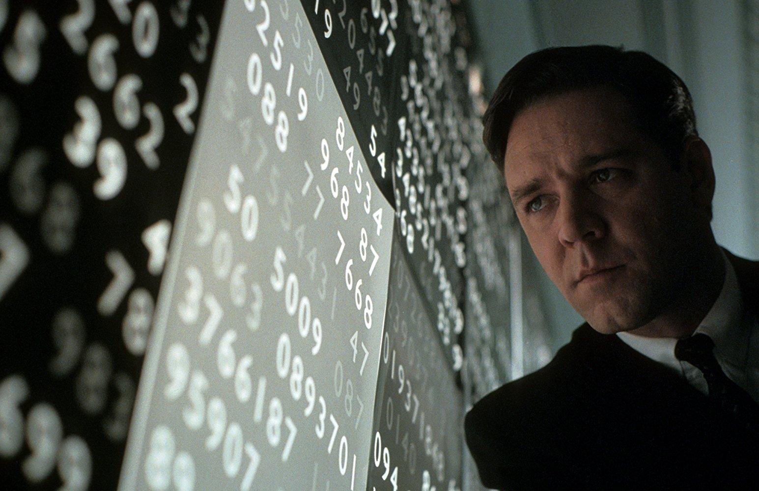 """راسل کرو در نمایی از فیلم """"ذهن زیبا"""""""