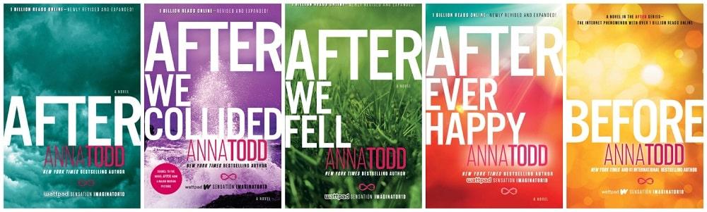 قسمت سوم و چهارم دنبالهی سینمایی «بعد از آن»(After) - جلد یک تا پنج مجموعه کتاب های «بعد از آن»(After)