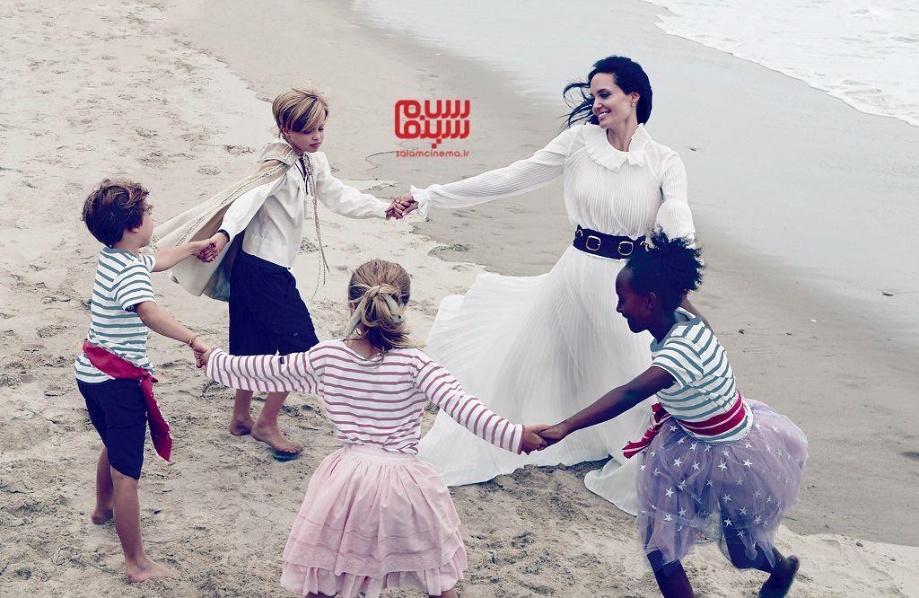 آنجلینا جولی و فرزندانش