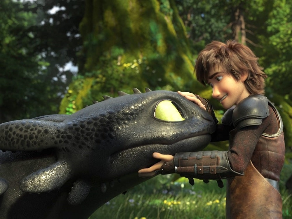 بهترین انیمیشن های تاریخ سینمای جهان - چگونه اژدهای خود را تربیت کنیم (How to train your dragon)
