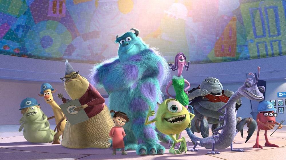بهترین انیمیشن های تاریخ سینمای جهان - کارخانه هیولاها (Monsters, Inc)