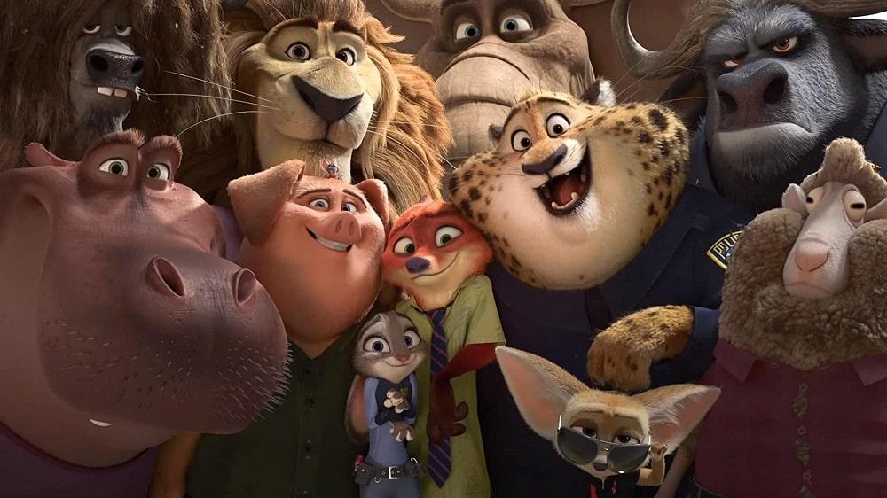 بهترین انیمیشن های تاریخ سینمای جهان - زوتوپیا (Zootopia)