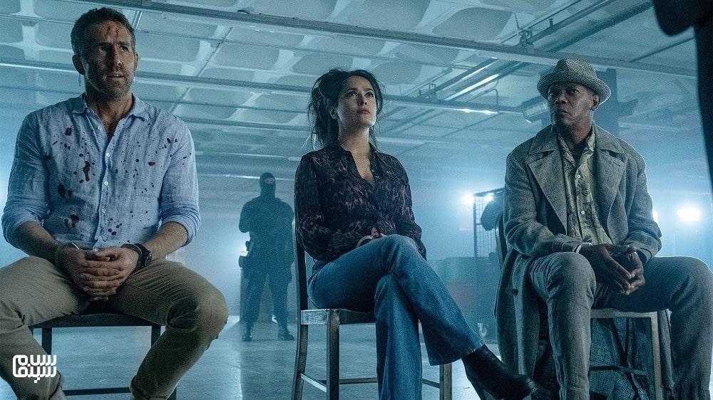 بهترین فیلمهای جنایی 2021-بادیگارد همسر مزدور-ساموئل ال جکسون، سلما هایک و رایان رینولدز
