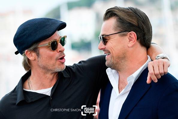 عکس لئوناردو دیکاپریو و برد پیت در فتوکال فیلم «روزی روزگاری در هالیوود»(Once Upon a Time in Hollywood) در کن 2019