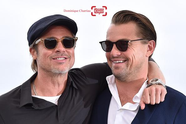 لئوناردو دیکاپریو و برد پیت در فتوکال فیلم «روزی روزگاری در هالیوود» در کن 2019