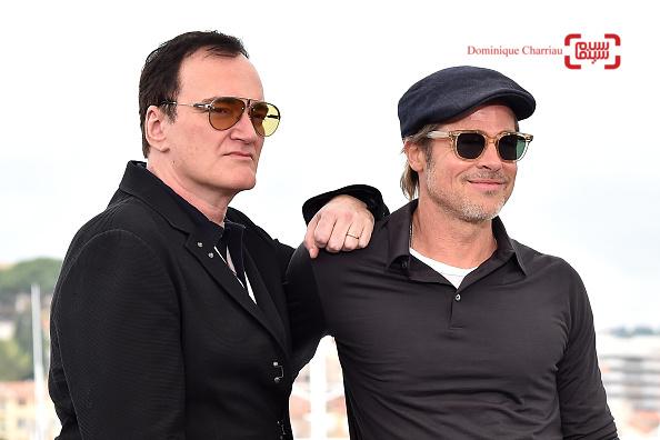 کوئنتین تارانتینو و برد پیت در فتوکال «روزی روزگاری در هالیوود»(Once Upon a Time in Hollywood) در کن