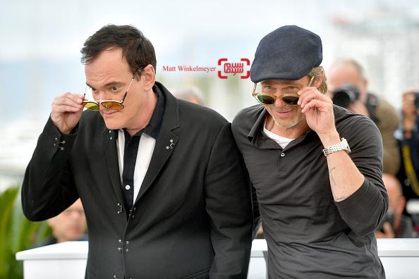 کوئنتین تارانتینو و برد پیت در فتوکال فیلم «روزی روزگاری در هالیوود» در کن 2019