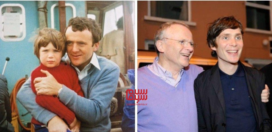 40 نکته جذاب از کیلین مورفی - کیلین مورفی به همراه پدرش