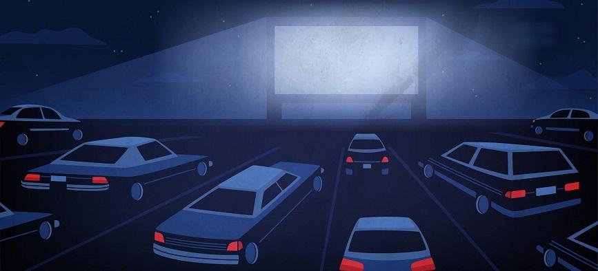 سینما-ماشین با «خروج»/ تماشای فیلم روی پرده در اتومبیل شخصی
