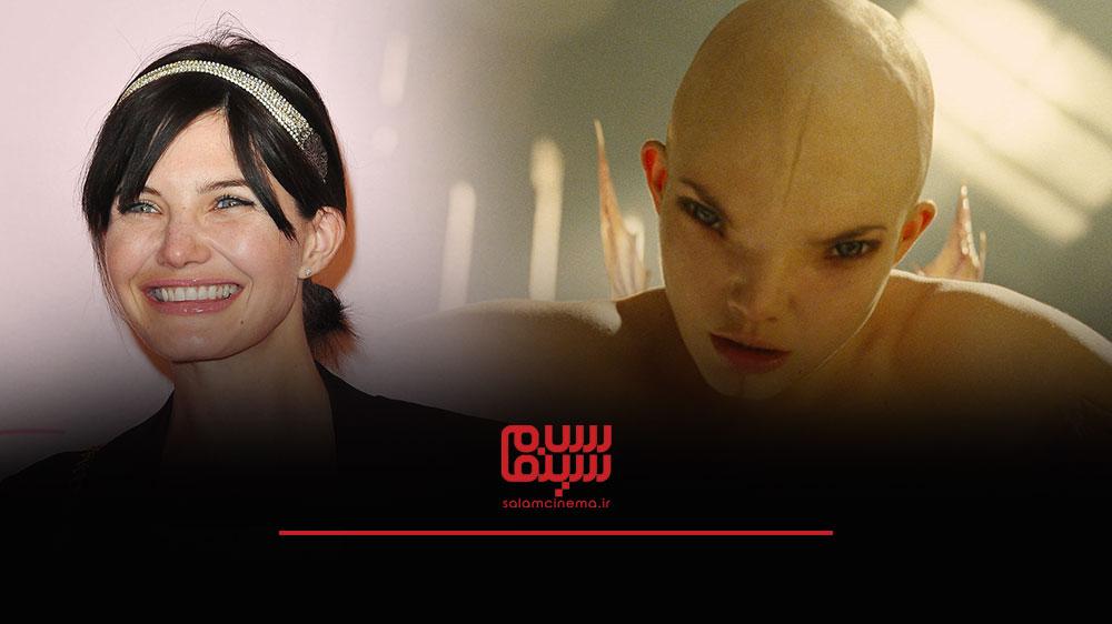 گریم های عجیب بازیگران در فیلم های ترسناک و چهره واقعی آن ها - دلفین چانیک (Delphine Chanéac)