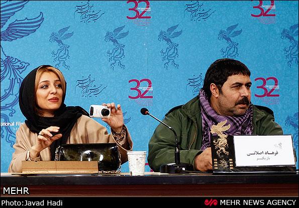 نشست خبری فیلم خواب زده ها جشنواره فیلم فجر ساره بیات و فرهاد اصلانی