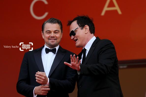 عکس لئوناردو دیکاپریو و کوئنتین تارانتینو در اکران فیلم «روزی روزگاری در هالیوود»(Once Upon a Time in Hollywood) در کن 2019