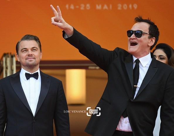 عکس لئوناردو دیکاپریو و کوئنتین تارانتینو در اکران فیلم «روزی روزگاری در هالیوود» در کن 2019