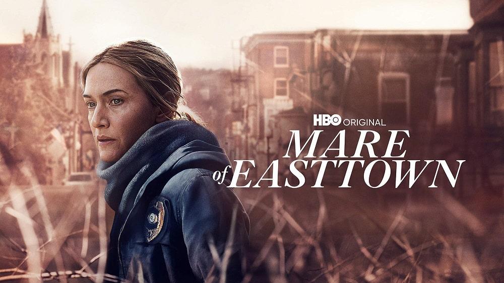پوستر افقی سریال میر از ایست تاون(Mare of Easttown) با تصویری از کیت وینسلت برای طرفداران این سریال