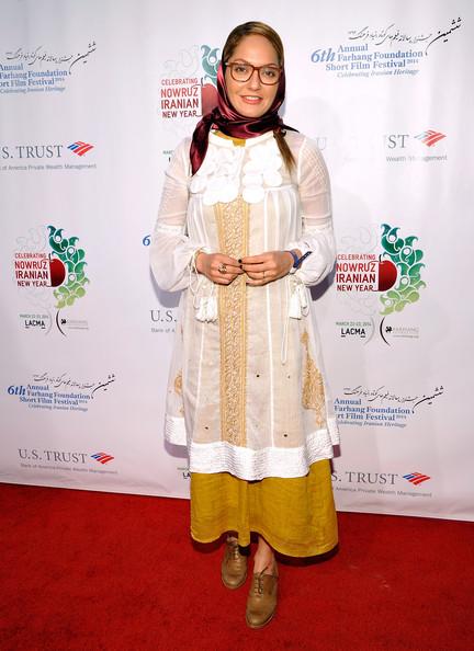 عکس های مهناز افشار در ششمین جشنواره فیلم های کوتاه Mahnaz afshar 2014 Farhang Foundation Short Film Festival Award Ceremony And Reception