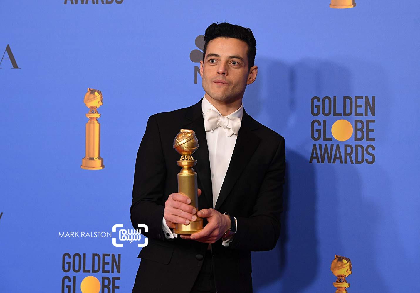رامی مالک گزارش تصویری از جوایز گلدن گلوب 2019