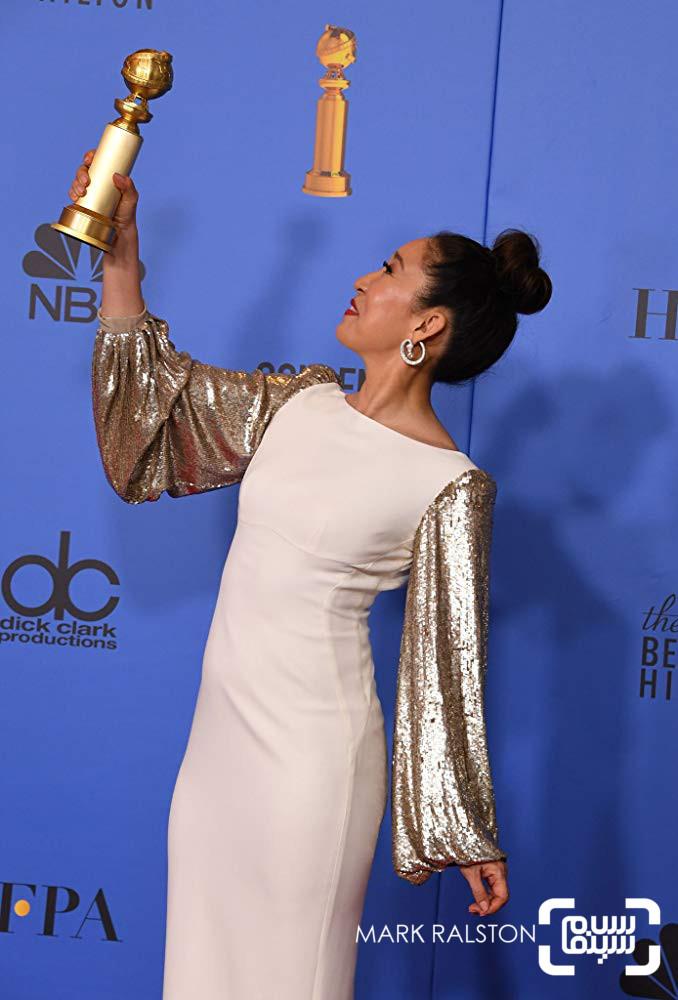 ساندرا اوه گزارش تصویری از جوایز گلدن گلوب 2019