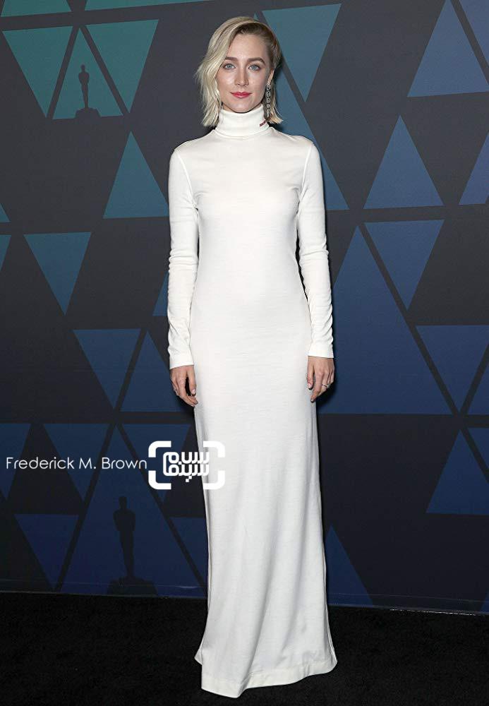 سیرشا رونان بازیگر فیلم مری ملکه اسکاتلند»(Mary Queen of Scots) در مراسم جوایز گاورنر 2018
