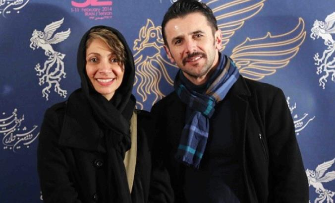 امین حیایی و همسرش در سی و دومین جشنواره فیلم فجر