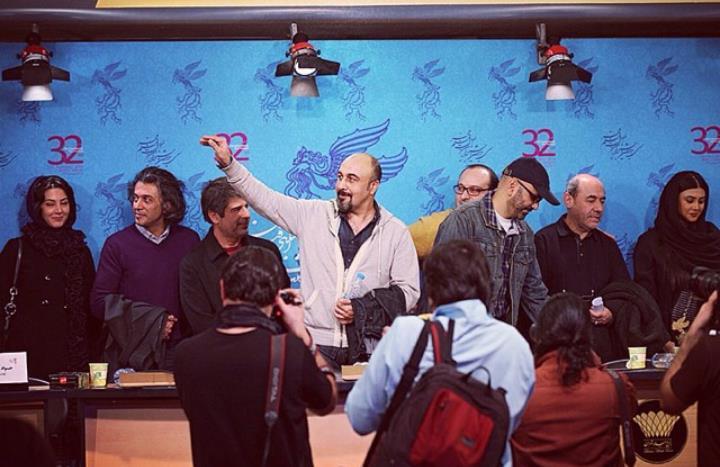 عکس نشست خبری طبقه حساس رضا عطاران سی و دومین جشنواره فیلم فجر