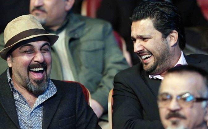 حامد بهداد و رضا عطاران در اختتامیه جشنواره فیلم فجر