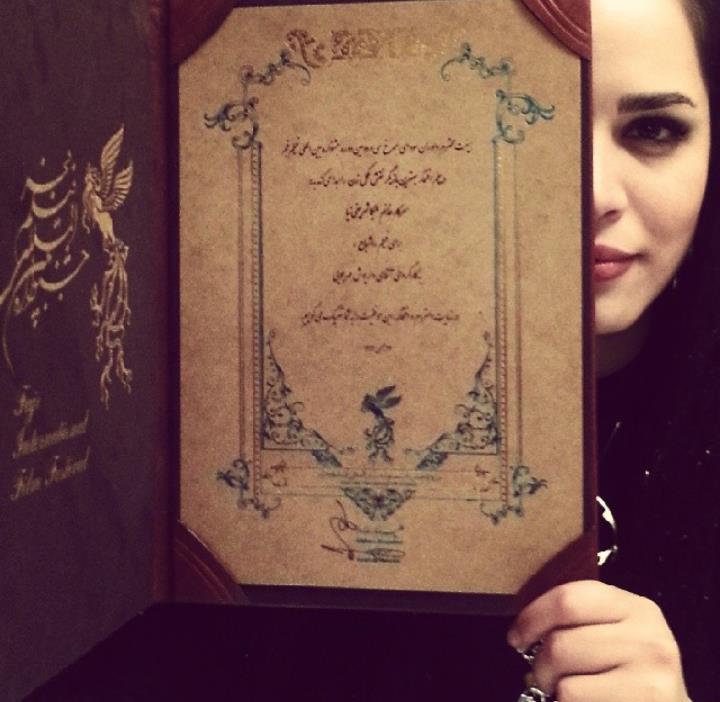 عکس ملیکا شریفی نیا اینستاگرام اختتامیه جشنواره فیلم فجر