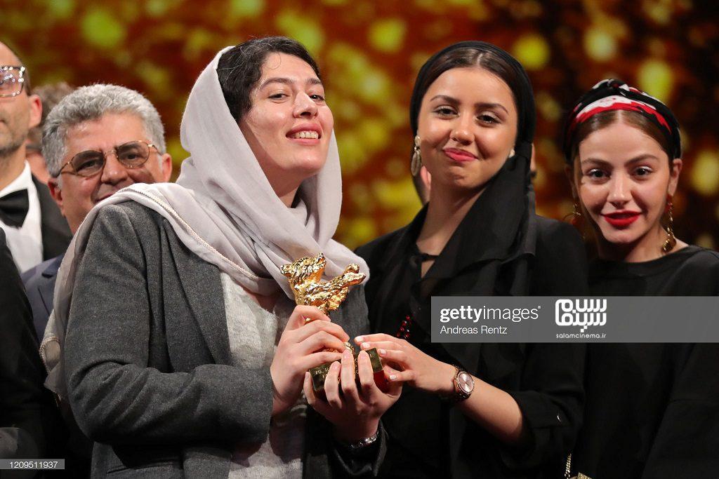 باران رسول اف - ژیلا شاهی - مهتا ثروتی - اختتامیه جشنواره فیلم برلین 2020- فیلم شیطان وجود ندارد