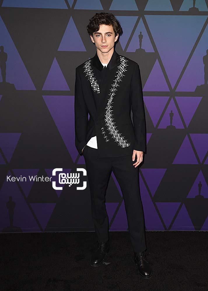 تیموتی شلمی در مراسم جوایز گاونر 2018