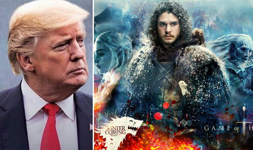 توییت جنجالی ترامپ در سبک سریال «بازی تاج و تخت»/ واکنش هنرمندان خارجی