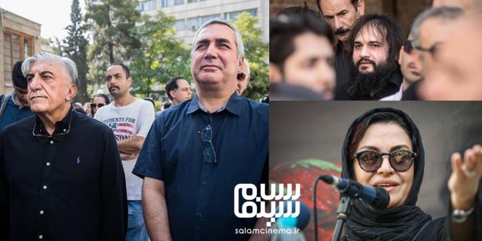 مراسم تشییع پیکر سید ضیاءالدین دری/ گزارش تصویری