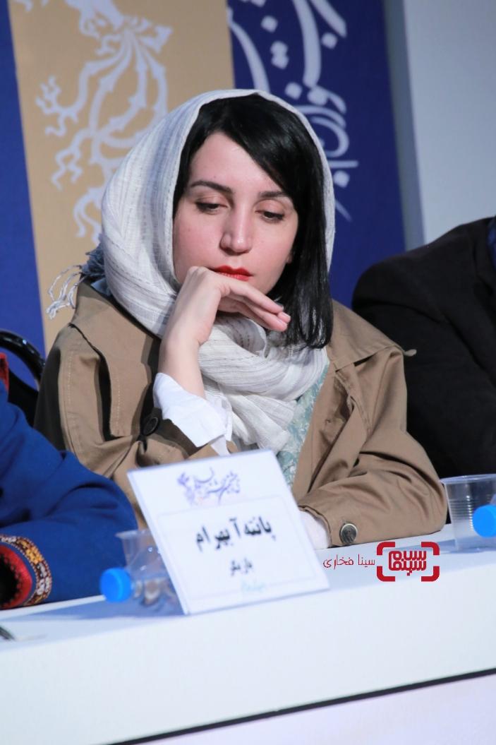 آبان عسگری - گزارش تصویری - نشست خبری «شنای پروانه» در جشنواره فجر 38