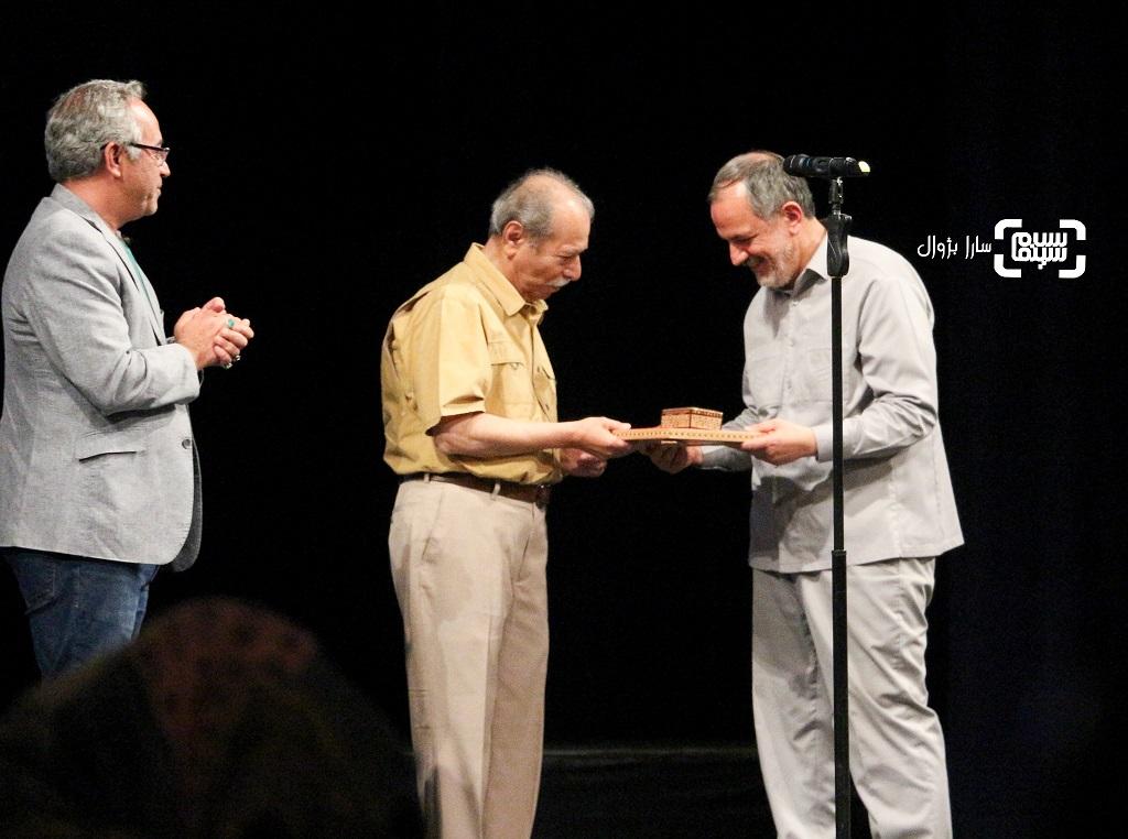 علی نصیریان در اختتامیه هفتمین جشنواره فیلم شهر