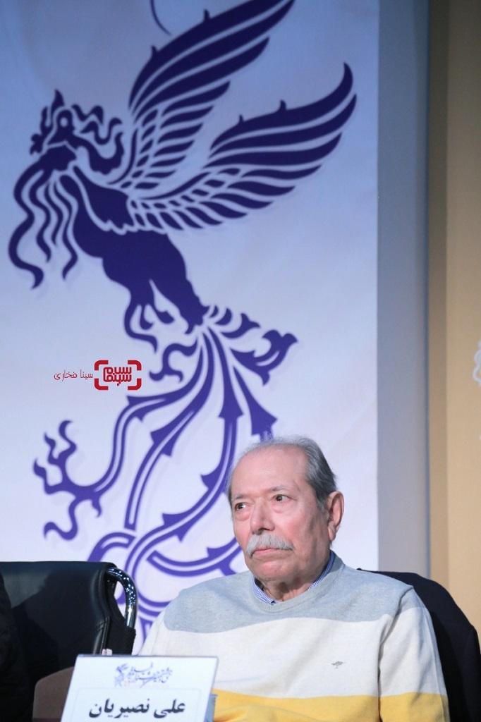 علی نصیریان - گزارش تصویری  - نشست خبری «خورشید» - فجر 38