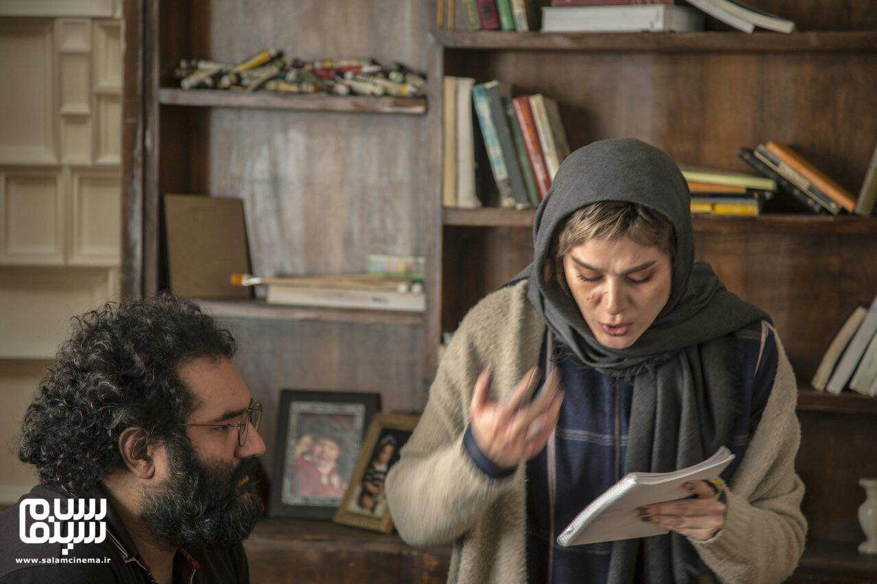 سحر دولتشاهی و نیما اقلیما در پشت صحنه فیلم «امیر»