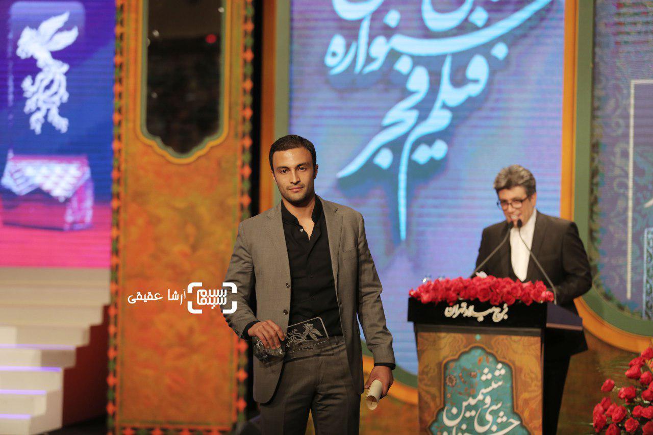امیر جدیدی برنده سیمرغ بلورین بهترین بازیگر مرد برای «تنگه ابوقریب» و «عرق سرد» از جشنواره فیلم فجر36