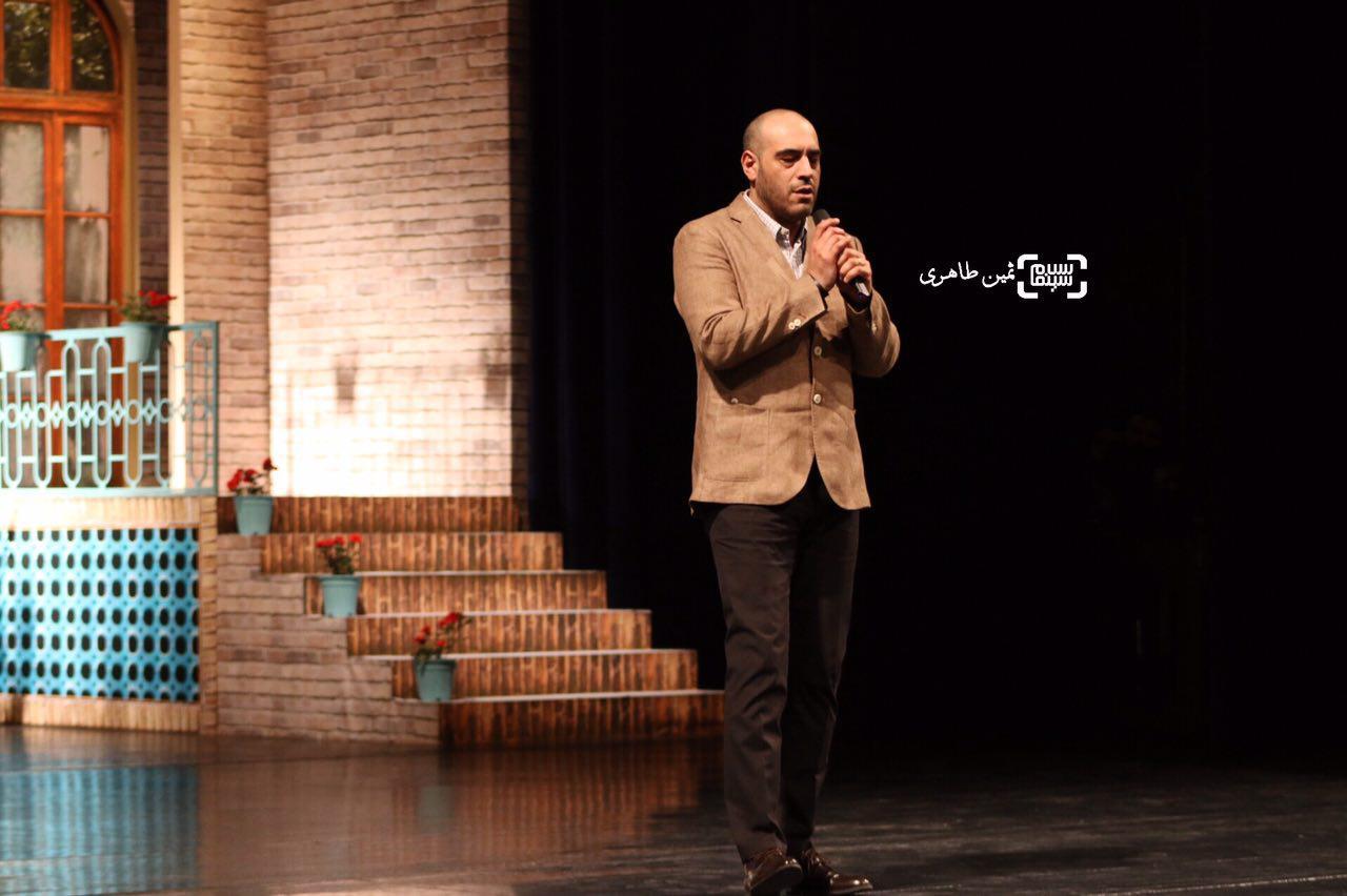 عکس امیریل ارجمند در نکوداشت رامبد جوان در جشنواره سما