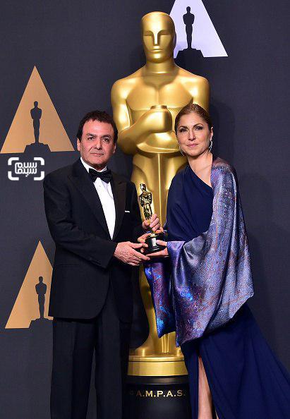 انوشه انصاری و فیروز نادری، نمایندگان اصغر فرهادی در اسکار 2017