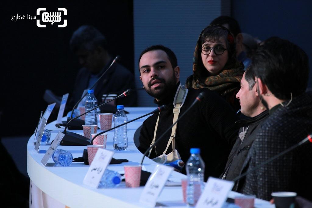 آرمان خوانساریان - نشست خبری فیلم «ابر بارانش گرفته» - فجر 38