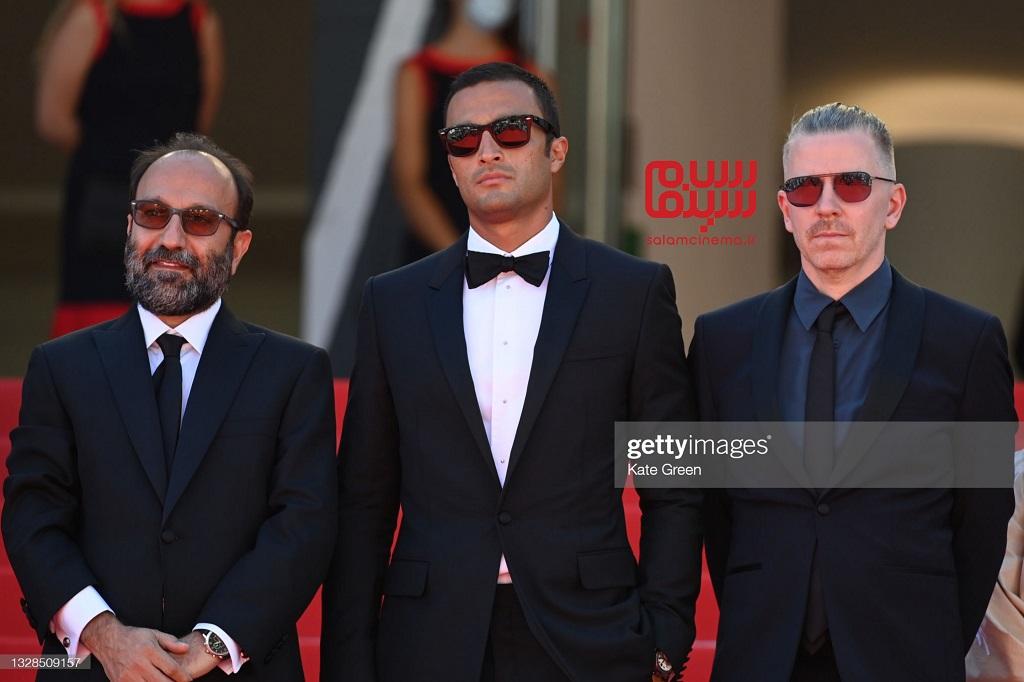 امیر جدیدی - اصغر فرهادی - فرش قرمز - جشنواره فیلم کن 2021