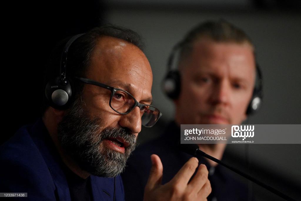 اصغر فرهادی - نشست خبری قهرمان - کن 2021