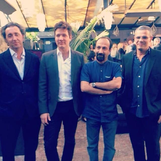 اصغر فرهادی - گلدن گلوب - مصاحبه مطبوعاتی کارگردانان بهترین فیلم خارجی گلدن گلوب
