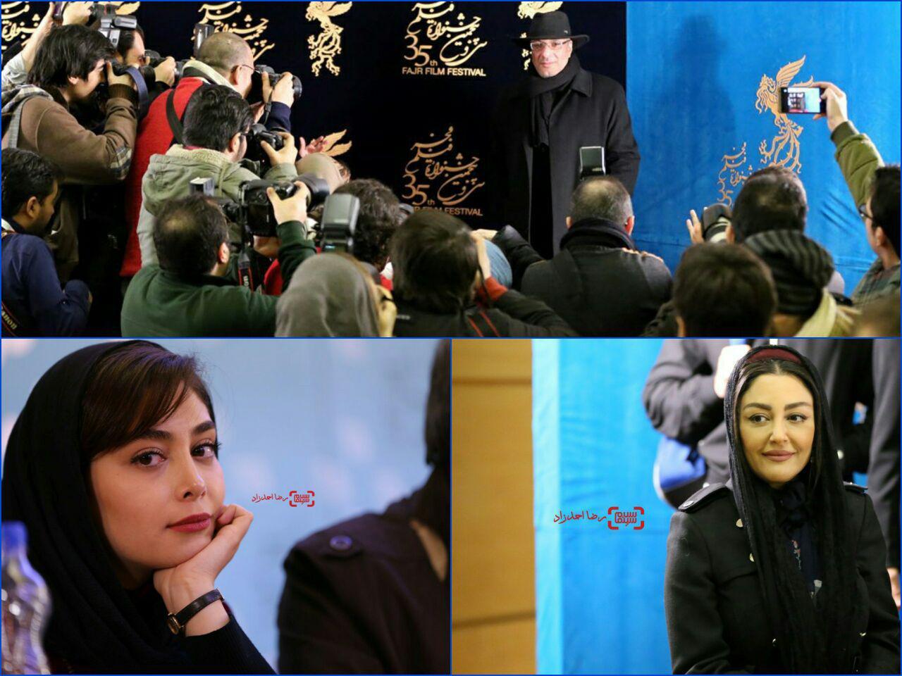 گزارش تصویری اکران و نشست فیلم «آزاد به قید شرط» در جشنواره فجر 35