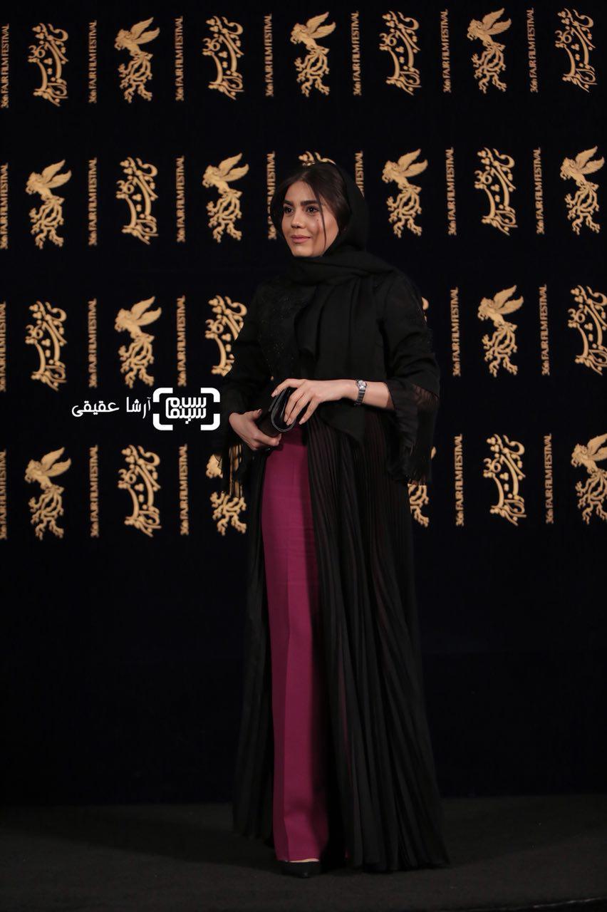 آزاده زارعی در اکران فیلم «هایلایت» در سی و ششمین جشنواره فیلم فجر