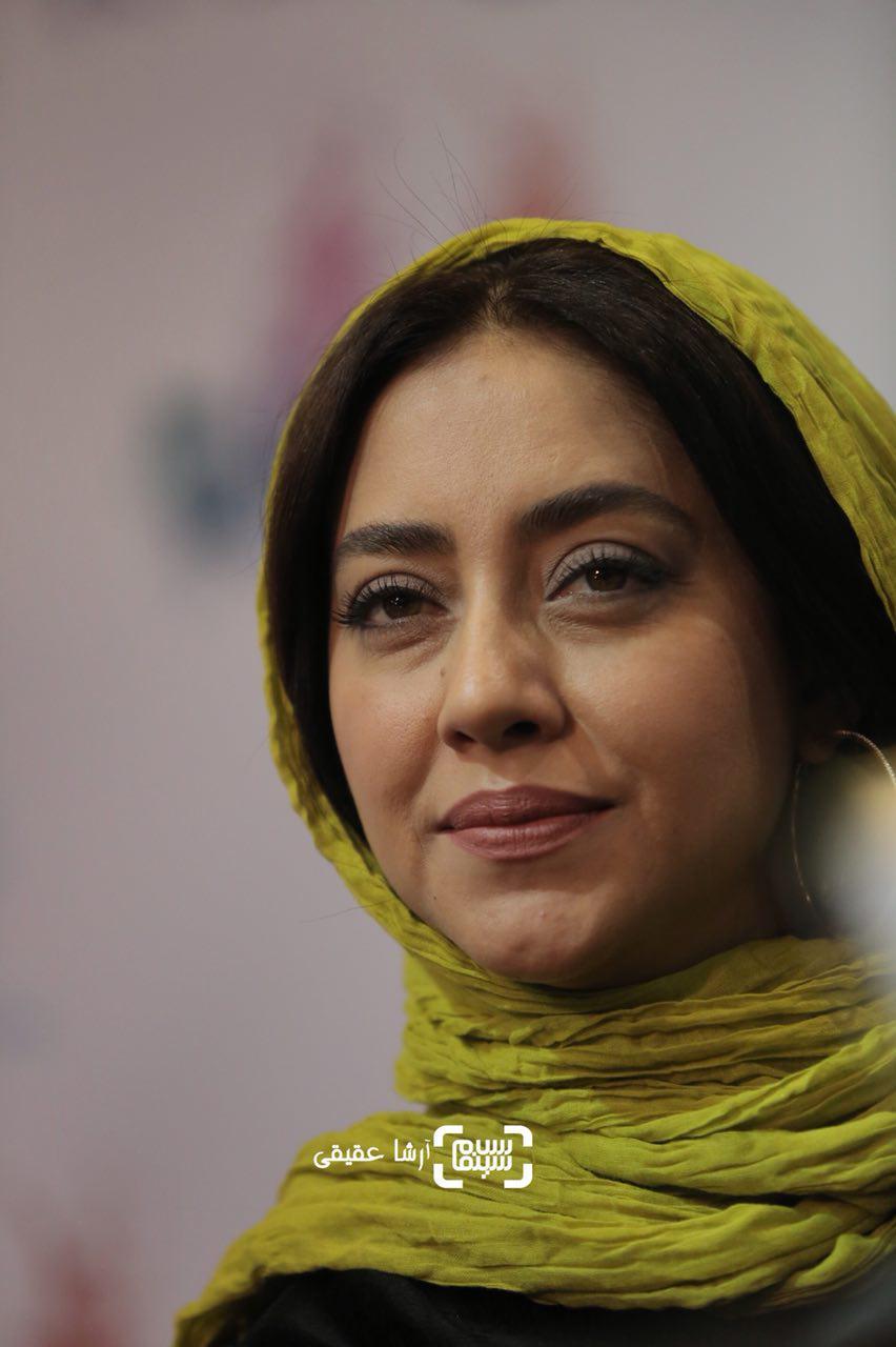 بهاره کیان افشار در نشست خبری فیلم «ماهورا» در سی و ششمین جشنواره فیلم فجر