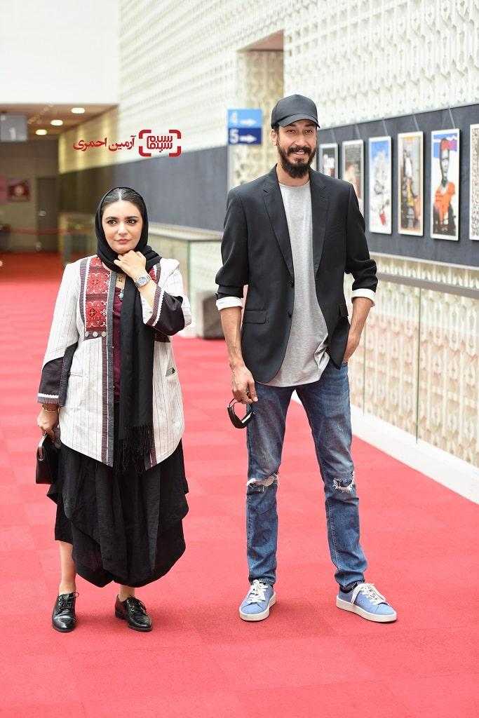 لیندا کیانی - بهرام افشاری - صحنه زنی - سی و هشتمین جشنواره جهانی فیلم فجر