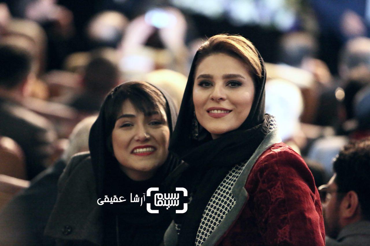 باران کوثری و سحر دولتشاهی در اختتامیه سی و ششمین جشنواره فیلم فجر