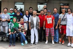 گزارش تصویری از حضور بازیگران در برزیل