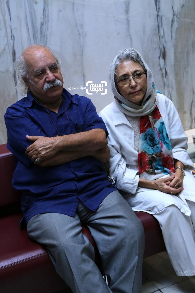بهزاد فراهانی و همسرش فهیمه رحیم نیا / اکران خصوصی فیلم «کلوپ همسران»/ گزارش تصویری