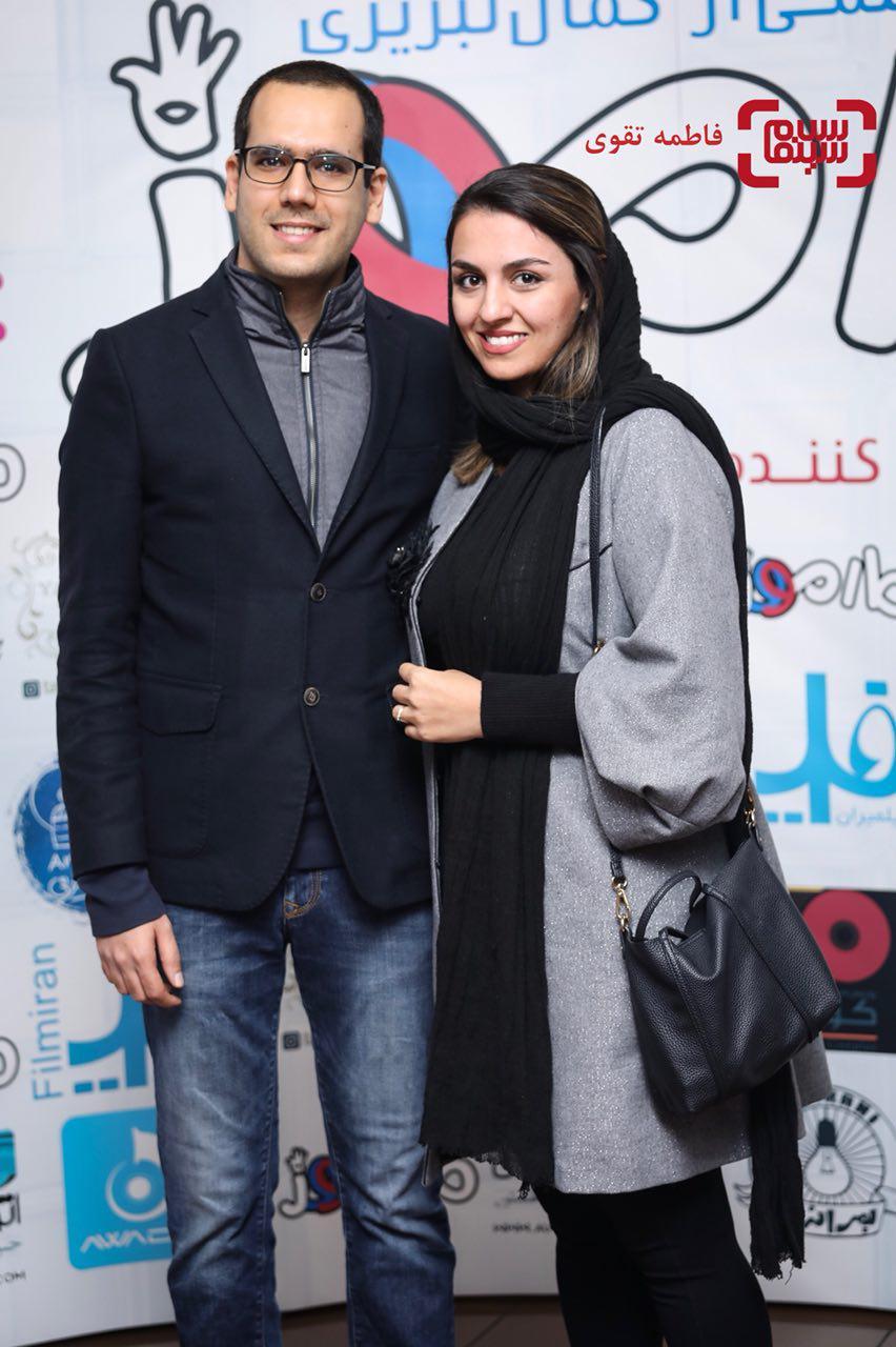 بهزاد قدیانلو و همسرش